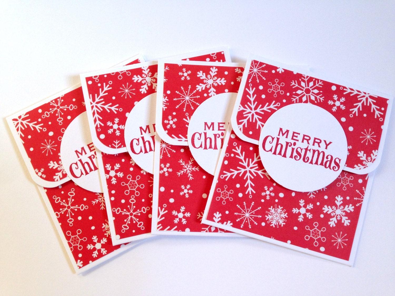 Merry Christmas Gift Card Holder Set Snowflake Holiday Gift