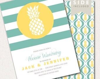 Pineapple Housewarming Invitation /  Printable Invitation