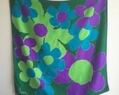 Vintage 60's Vera Neumann Silk Scarf / Mod Flowers