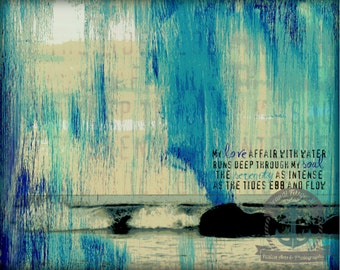 Love Affair With Water Ocean Shore Nautical Poetry Product Options and Pricing via Dropdown Menu