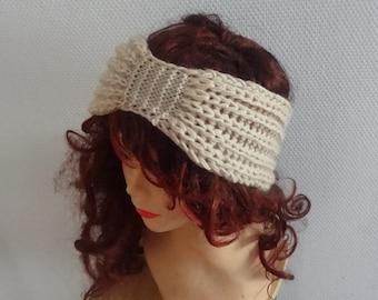 Handmade Knitted Headband ANY color Knit Headband Hand knit headband head wrap, ear warmer accessories turban headband, women headband