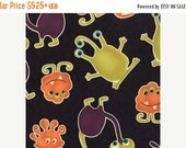 SUPER SALE Monsters on Black HALLOWEEN Fabric From Moda