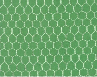 Chicken Wire on Grass Green from Moda's Farm Fun Collection by Stacy Iset Hsu