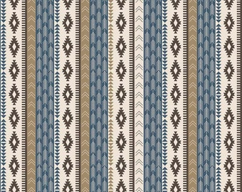 Blue Tribal Stripes from Riley Blake's High Adventure Collection