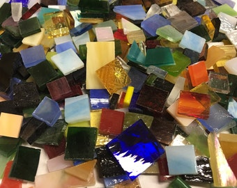 150 SPECIAL CUTS #2 GRABBAG Stained Glass Mosaic Tiles Mix Size B37