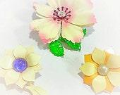 Antique, Vintage, Flower Brooches, Vintage Flower Pins, Lot of 3
