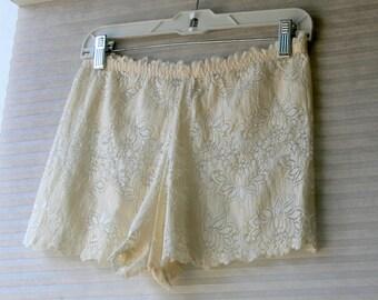 cream boxer  panties  size 8