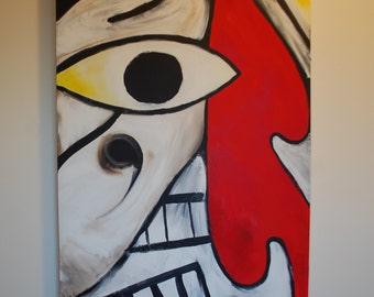 2' x 3' Original Acrylic Painting on Canvas