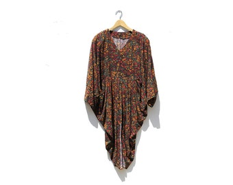 Vintage Stain Glass Print Top / Oversized Top