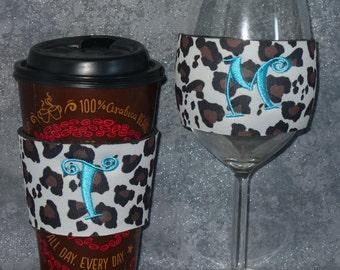Wine Glass Sleeve, Cheetah, Wine Glass Cozy