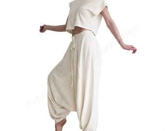 boho GREENECA harem pants organic cotton yoga boho comfortable baggy sweat plus size boho sarouel loose hippie gypsy