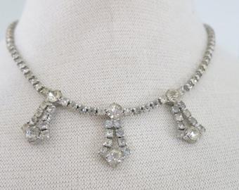 50s necklace  with rhinestones