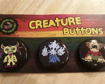 Creature Buttons 3 pack