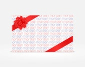 Birthday/Personalized Custom Wrapping Paper - 5 sheets
