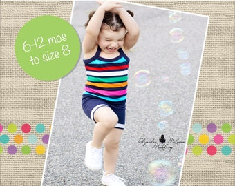 Callie's Cami and Boy Shorts Set PDF Pattern sizes 6-12 months to size 8 girls