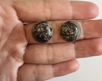 Round Cabochon Natural Fossil Stone 15 x 15 mm