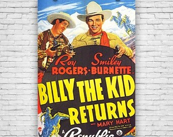 "Billy the Kid Returns, Roy Rogers, 1938 Movie Print Poster - 12""x18"""