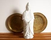Chinoiserie Statue, Blanc de Chine Figurine, Hollywood Regency