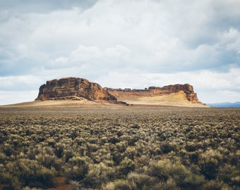 "Fine Art Photography, Landscape, Oregon, ""Fort Rock"""