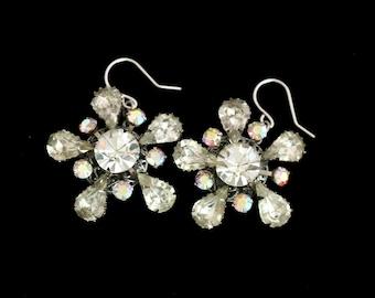 Wedding Earrings, Handmade with Vintage Jewelry, Vintage Wedding Jewelry, Pierced Earrings, Dangle Earrings, Vintage Rhinestone Earrings