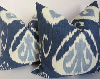 Kravet blue white pillow cover - Blue pillow Cover - Kravet Pillow - Blue Pillow - White pillow - Bansuri pillow - Blue bansuri pillow