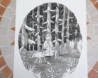 Expedition Original Ink Drawing