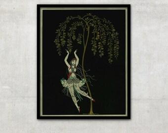 Art Deco illustration, Art deco art, Vintage art, Ballet illustrations, Georges Barbier, IL052.