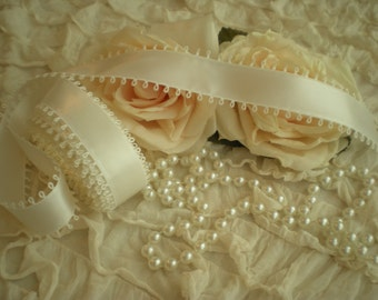 Vintage White Picot Edge Double Sided Satin Ribbon Collector Quality From SincerelyRaven On Etsy
