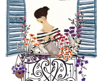 Window Box A4 Art Print
