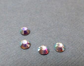Swarovski Rhinestone Hotfix Cabochon. Rhinestone. Flatback Crystal. Rose AB. SS16. 2028. Fifty (50).