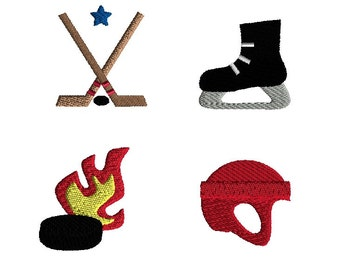 Mini Hockey Embroidery Designs for Machine Embroidery-INSTANT DOWNLOAD