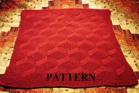 Knit Baby Blanket Pattern, Chunky Yarn, Baby Blanket Pattern, Knit Blanket Pa...