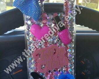 Cute, Bling, Deco Handmade Phone Case - Nails