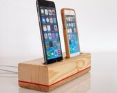 iPhone 6 / iPhone 6s plus charging station / iPhone 5s charging station -  dual dock  - unique present