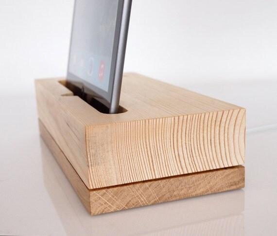 wooden ipad pro 9 7 dock ipad air dock ipad air 2 charging. Black Bedroom Furniture Sets. Home Design Ideas