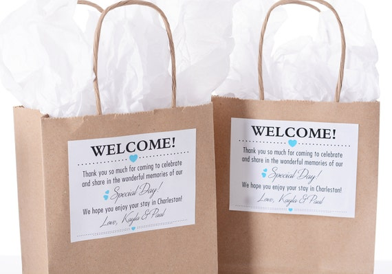 Hotel Wedding Welcome Bags - 25 Out of Town Welcome Bags - Hotel ...