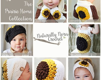 Instant Download 7 Pattern e-Book: The Prairie Home Collection