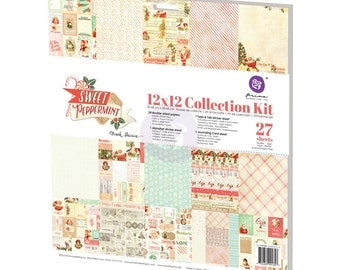 Prima Sweet Peppermint Collection Kit 12 x 12  Scrapbook New Release In Stock Ready To Ship