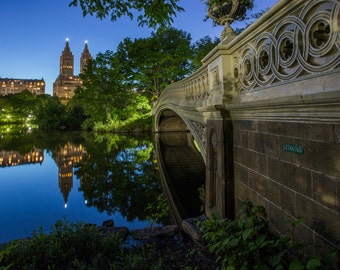 Central Park Bow Bridge from Below - Amazing Reflection - New York City Photography