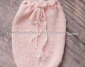 Light Pink Newborn Swaddle Sack - Photo Prop - Ready to Ship
