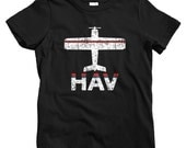 Kids Fly Havana T-shirt - HAV Airport - Baby, Toddler, and Youth Sizes - Havana Cuba Tee, Cuban, Travel, Gift - 2 Colors