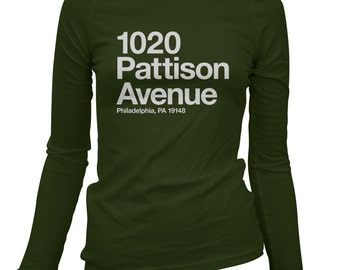 Women's Philly Football Stadium Long Sleeve Tee - S M L XL 2x - Ladies' Philadelphia T-shirt - 4 Colors