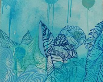 organic (blue)