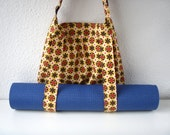 Yoga Bag Yellow Retro Handmade Babimini