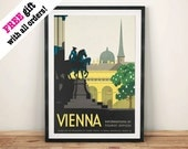 WENEN REIZEN POSTER: Vintage Oostenrijkse advertentie Art Print muur opknoping