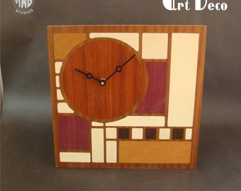 Art Deco Styled Wall clock.  WC-13  With Free Shipping.