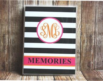 24 Colors, Photo Album, Monogrammed Photo Album, Personalized Photo Album, Custom Photo Album