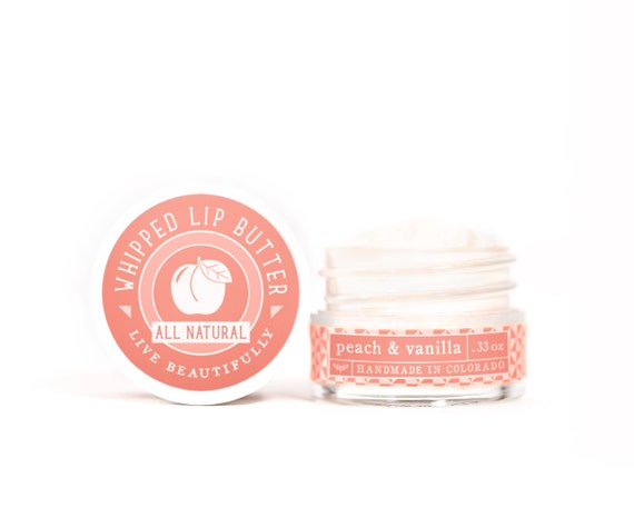 Peach & Vanilla - Whipped Lip Butter - Natural Icing for Your Lips
