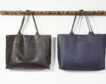 Belleville Tote  -  Oil Tanned Brown or Navy - SALE - 40% OFF