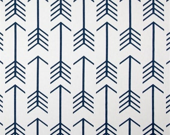 """Premier Prints Arrow Storm Navy Blue Valance 50"""" wide x 16"""" long Lined Or Unlined Blue and White"""